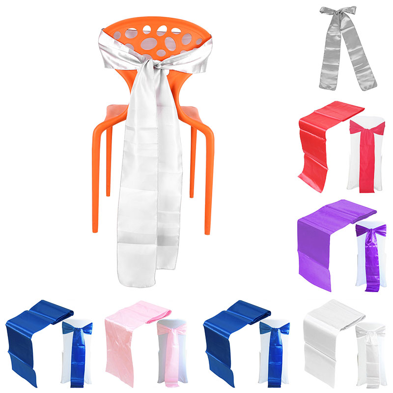 30x275CM Satin Table Chair Cover Bow Sash For Wedding Party Decoration