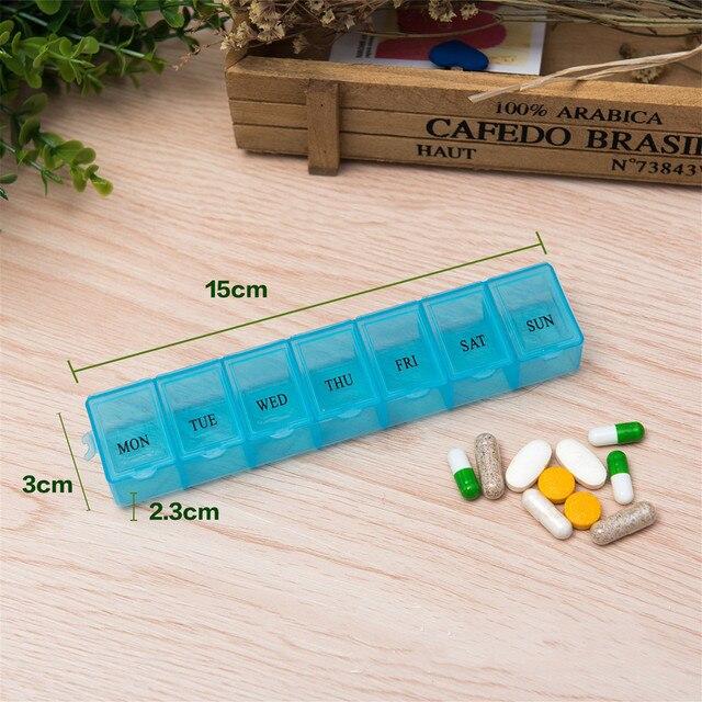 1 szt. 3 kolory 7 dni tygodniowa porcja tabletek pigułka apteczka pudełko do przechowywania organizator pojemnik skrzynka pudełko na pigułki rozgałęźniki