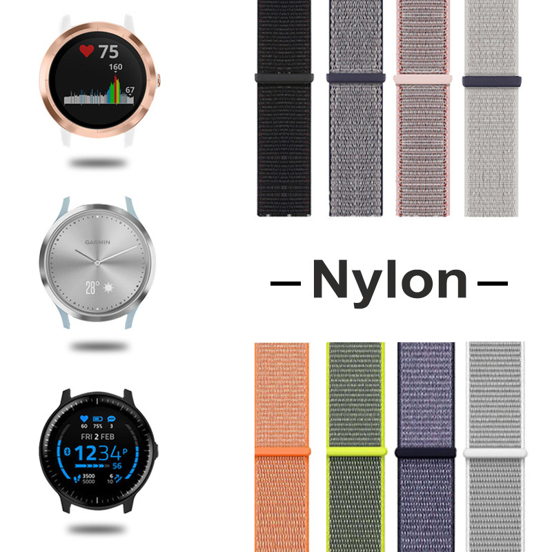 Nylon Band For Garmin Vivoactive 3 Strap For Garmin Vivoactive3/4/Vivomove HR/Forerunner 645/Venu Smart Bracelet Watch Strap