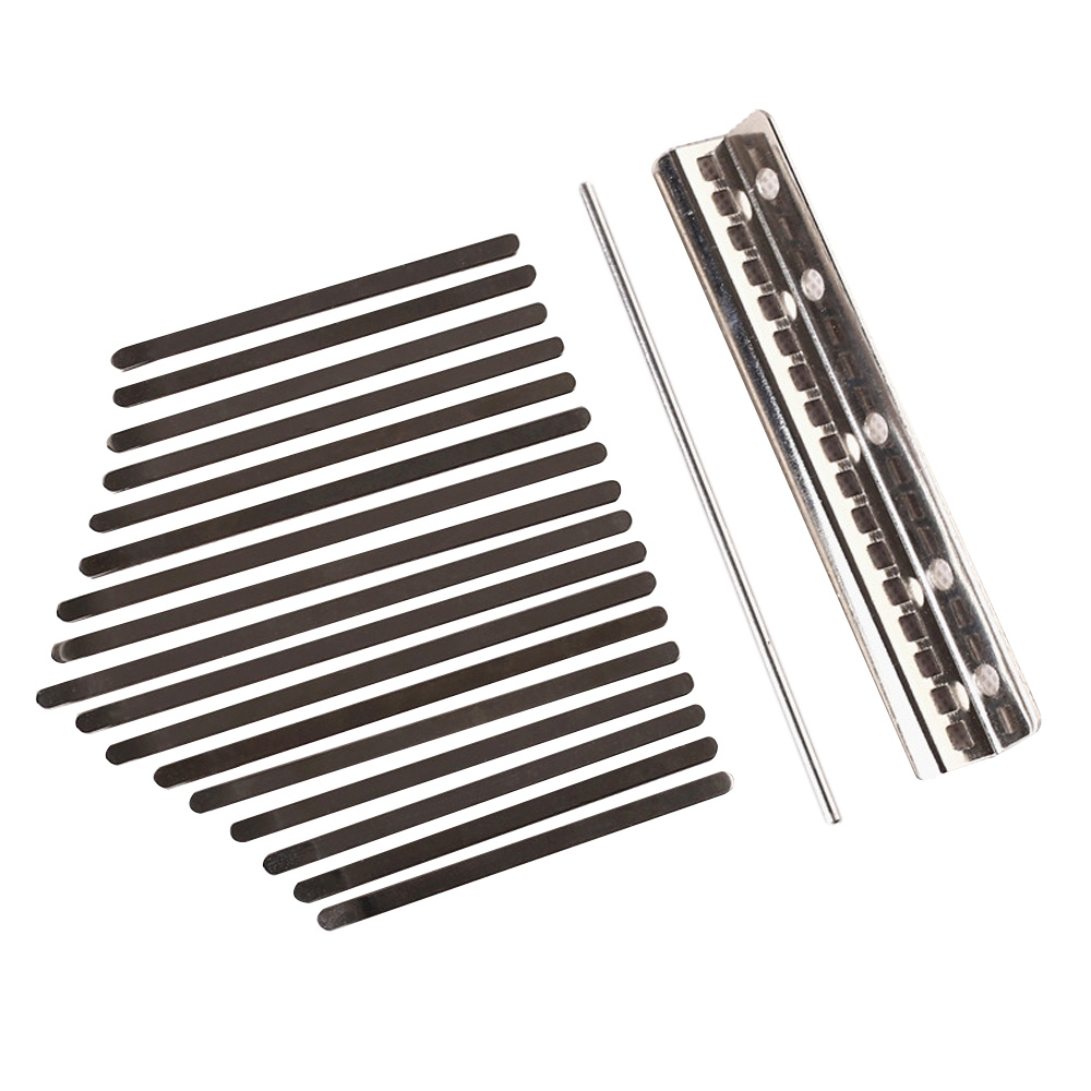Portable 17 Sounds Manganese Steel Nickel Plating Plucked Stringed Instrument Fingertip Piano Thumb Piano Shrapnel