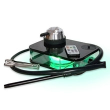 Moderne Acryl Wasserpfeife Shisha Nargile Rauchen Wasser Rohr Tragbare Rauchen Zubehör Set mit LED Licht Box