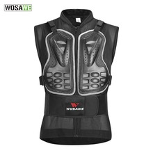 WOSAWE Sleeveless Body Armor Protective Vest Motorbike Riding Snowboarding Skiing Motorcycle Armor Back Support Chest Protector