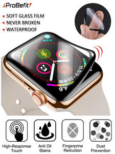Screen-Protector Apple Watch Not-Tempered-Soft-Glass -Film 42MM Waterproof 38MM 44MM