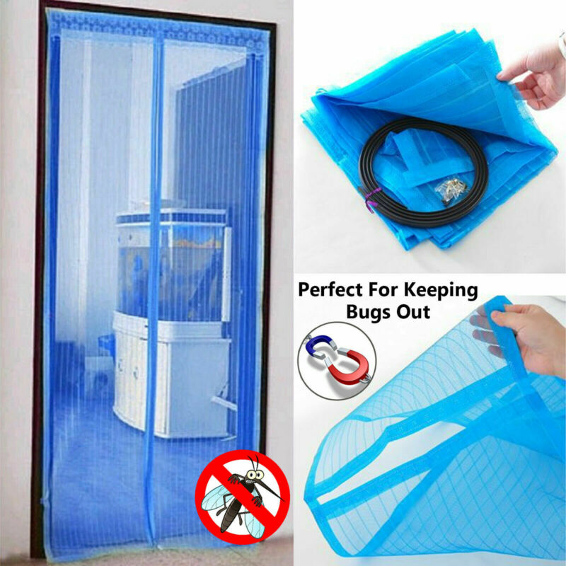 Summer Anti Mosquito Insect Fly Bug Curtains Magnetic Mesh Net Automatic Closing Door Screen Kitchen Curtains Black
