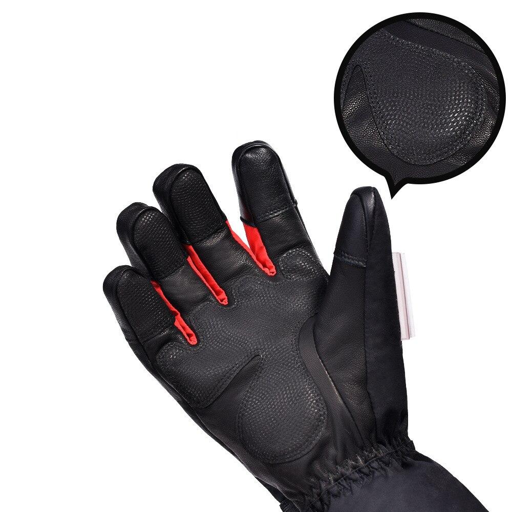 TWTOPSE cyclisme électrique chaud Sport gants avec batterie externe imperméable en peau de mouton vélo ski Snowboard randonnée hommes gants d'hiver - 5