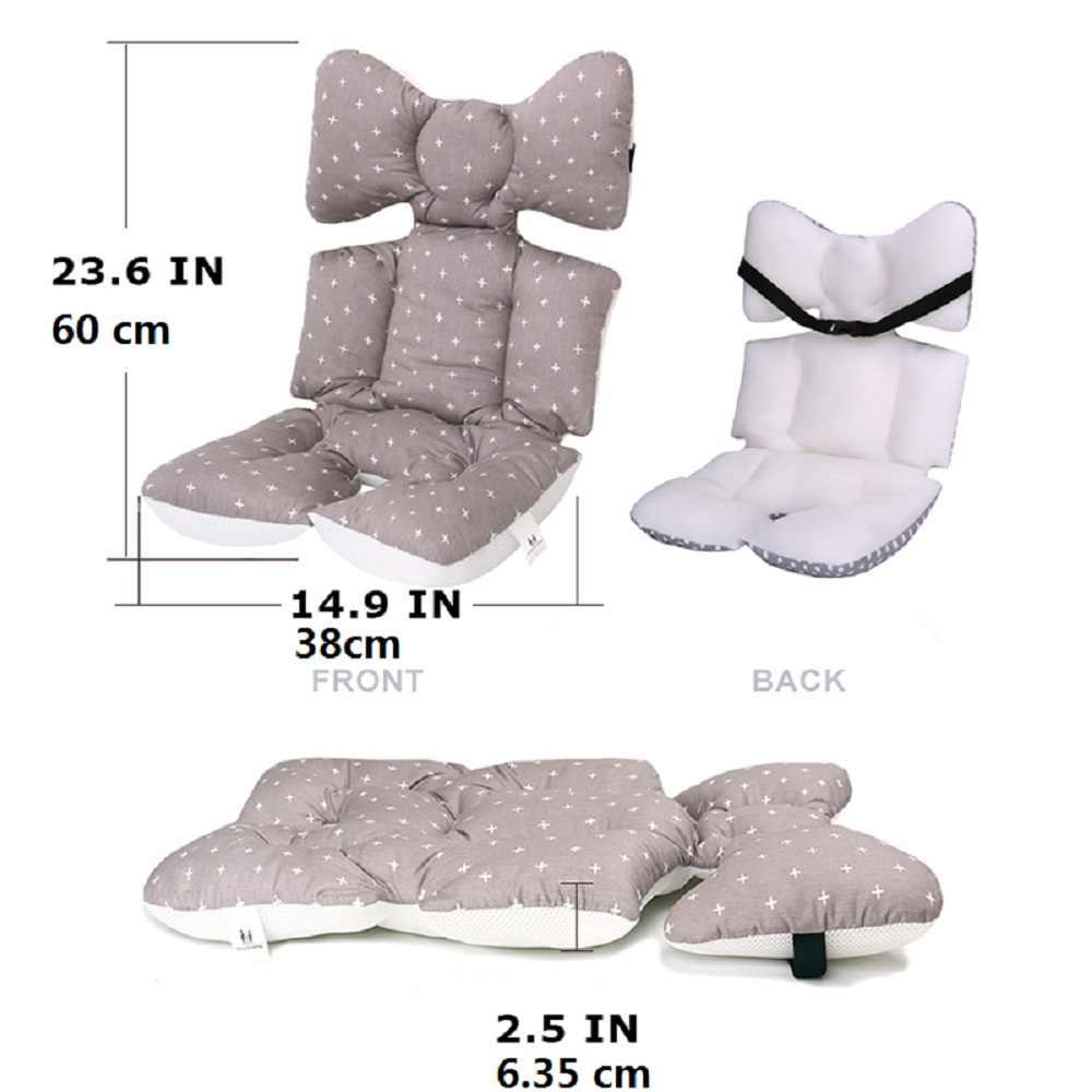 2 Pads Set Double-Sided Fleece Landau Siège Exclusive poussette rembourré Liner