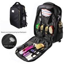 Barbeiro maleta de transporte para wahl barbeiro ferramentas estilo acessórios grande capacidade armazenamento mochila viagem ombros saco