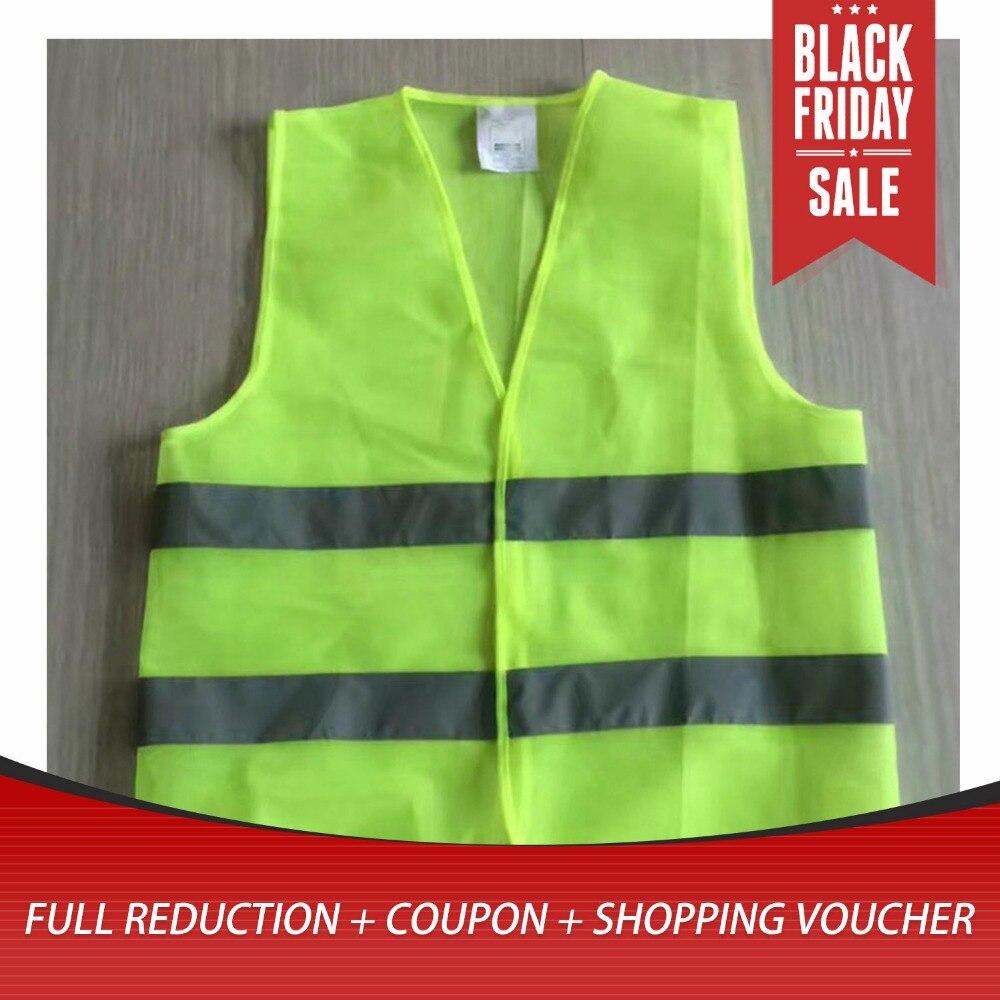 XL XXL XXXL Reflective Fluorescent Vest Yellow Orange Color Outdoor Safety