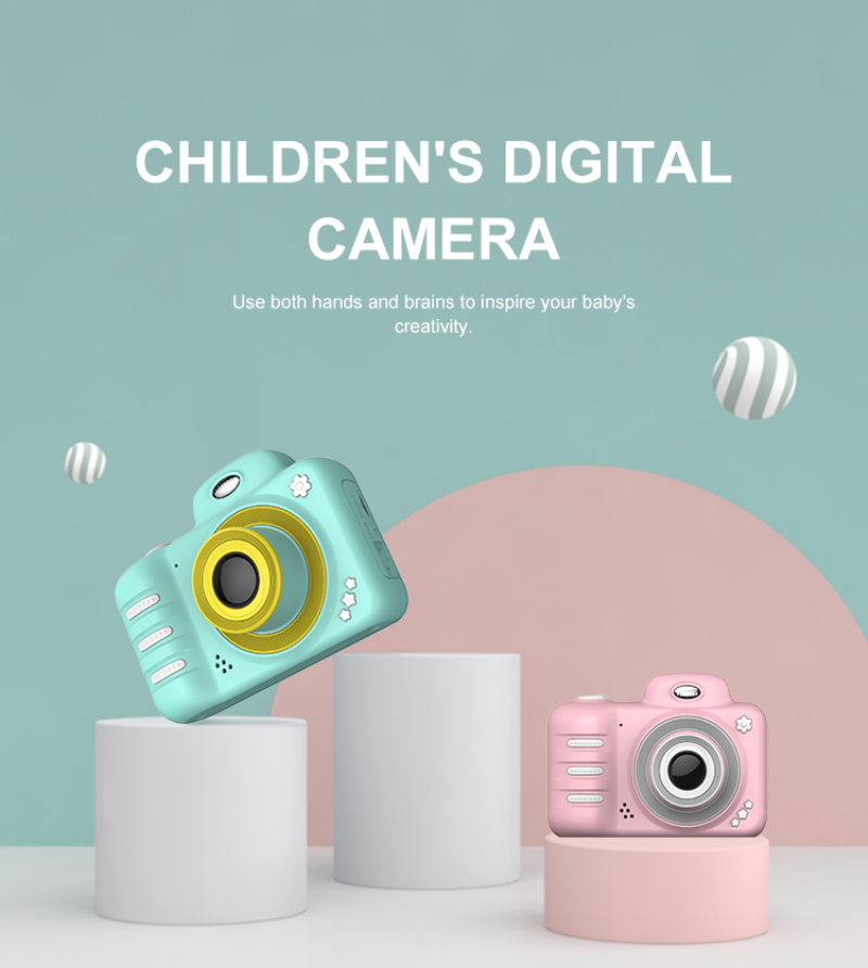 Children's Camera Waterproof HD Screen Camera Video Toy 12/18MP Kids Cartoon Cute Digital Camera Kids Outdoor Photography