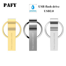 купить usb flash drive 64 GB pendrive 4GB 8GB 16GB 32GB metal flash  memory stick Gold pen drive 128GB usb stick mini Free print LOGO онлайн
