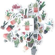 Stick-Label Planner Album Scrapbooking Diy-Decoration Cute Diary Green 45pcs/Set