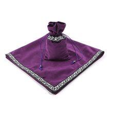 Bolso de cartas de Tarot de Altar, mantel de tela de mesa de fiesta, para juego mantel, tapiz de terciopelo Wicca de adivinación, Vintage negro púrpura azul