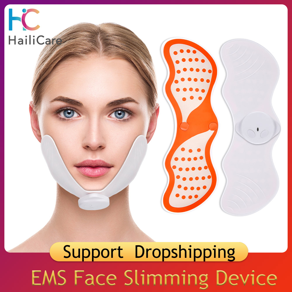 EMS Face Slimming Device Skin Facial Lifting Machine Facial Muscle Stimulator Massager For Dropshipping 2019