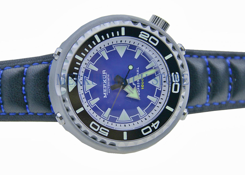 AD30 MERKUR 1000M Monoblock Tuna Can Automatic Pro Diver Dive Mens Vinatge Watch