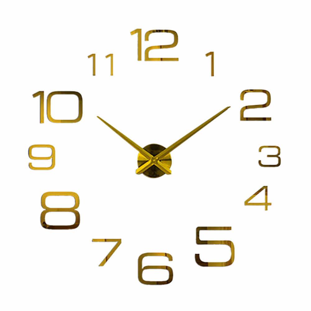 2020 moderne Design Rushed Quarz Uhren Mode Watche Spiegel Aufkleber Diy Wohnzimmer Decor Neue Ankunft 3d Echte Kleine alle uhr
