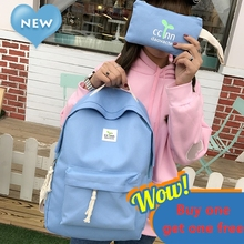 Korean Style Canvas Women Backpack Purse with Bean Sprouts Travel Shoulder Bag for Teen Schoolgirl Student Bookbag Mini Backpack