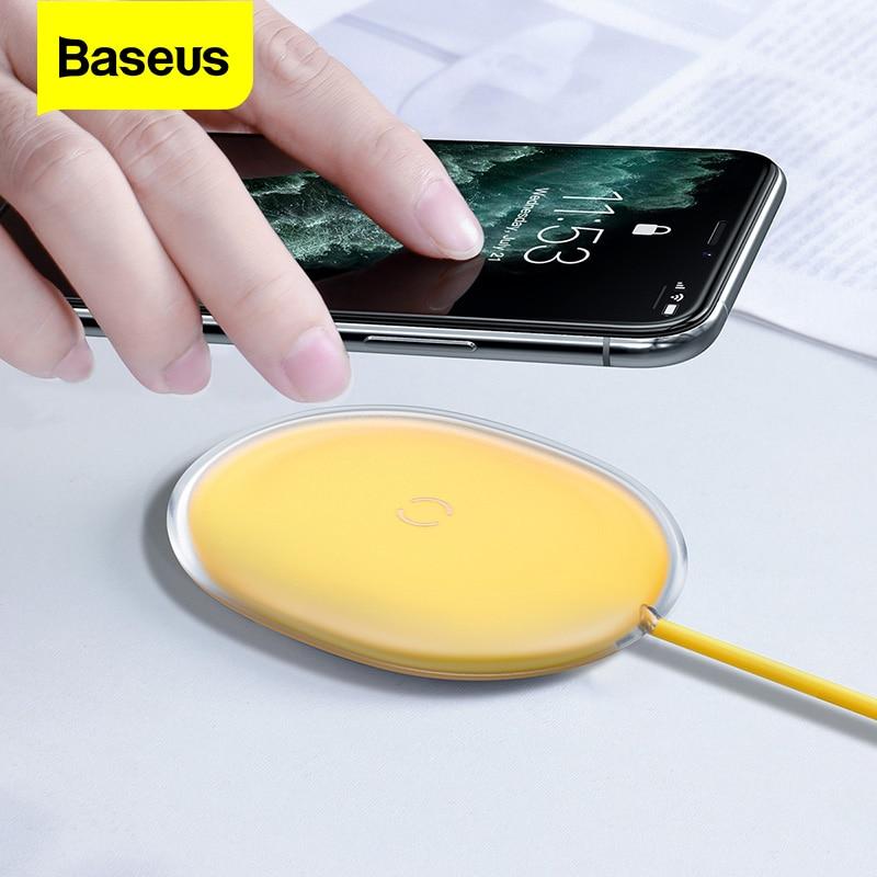 Baseus 15W Qi Drahtlose Ladegerät Für iPhone 11 Pro X Xr 8 7 Plus Schnelle Drahtlose Aufladen Pad Für xiaomi mi 10 Samsung S9 S10 Huawei