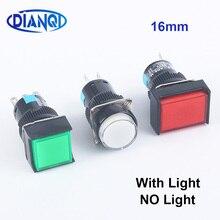 1 шт. кнопочные переключатели 16 мм мгновенная подсветка поддерживаемая фиксация кнопочная лампа с светильник/без светодиодный 12 В 24 В 220 В
