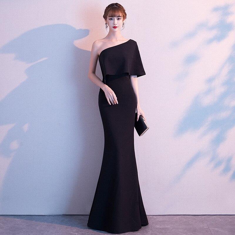 2020 Sale Robe De Cocktail Courte Vestido De Noiva Dress Female 2020 New Temperament Toastmaster Long Simple Generous Fishtail
