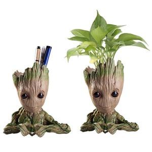 Горшок для цветов «Звездные войны», детский кашпо «Грут», фигурки плантаторов, дерево, человек, Милая модель, игрушечная ручка, горшок для са...