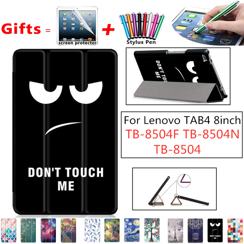 Case For Lenovo Tab 4 8, TB-8504x Leather Case Smart Cover For Lenovo TAB4 8 TB-8504F TB-8504N TB-8504 Tablet Case Flip Cover