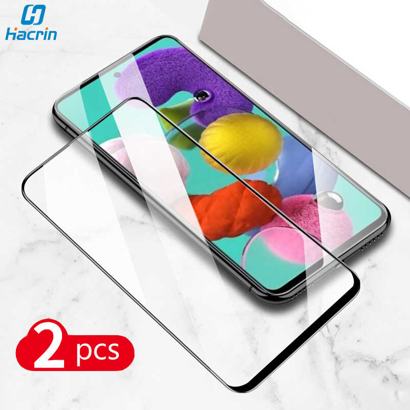 2 Stuks Voor Samsung Galaxy A51Tempered Glas Hd Glad Clear Anti-Kras Glas Film Voor Samsung A51 A71 Een 71 Screen Protector Film
