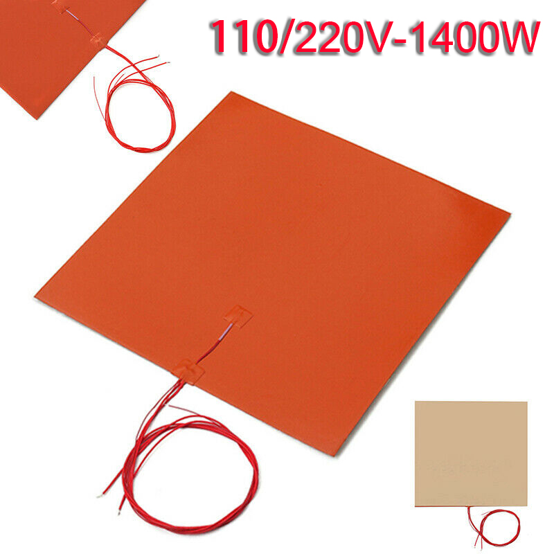 400*400MM 110V/220V 1400W Silicone Heater Mat Pad For Printer Heated Bed Heating High Performance Heating Pad Tool Parts