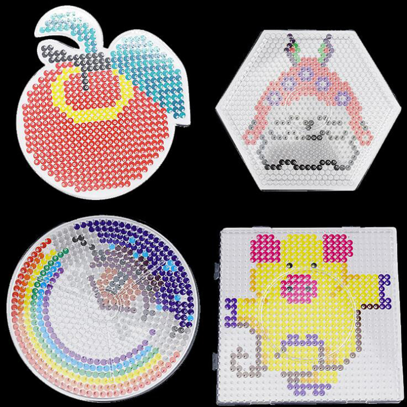 Hama Beads Templates Board 5mm Perler Beads Base With Pattern Paper Pegboards Ironing Fuse Beads Templates Tangram Jigsaw Boards