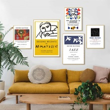 Henri Matisse Fashion Retro Posters And Prints Abstract Portrait Wall Art Canvas Painting Pictures Home Decor quadro cuadros