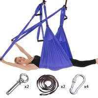 Juego completo 6 manijas antigravedad hamaca aérea para Yoga de vuelo y balanceo trapecio Yoga inversión ejercicios dispositivo Home GYM cinturón colgante