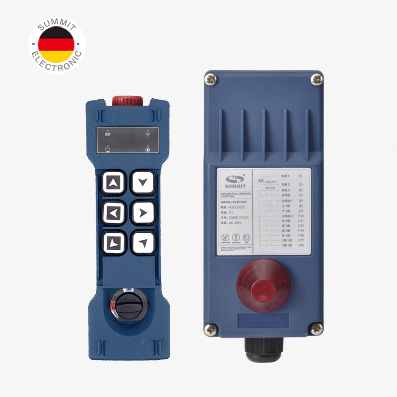 Nice Industrial Remote Control SUMT-S06 Hoist Crane Lift Button Switch 6 Single Speed Buttons 1 TX+1 RX For Truck Hoist Crane