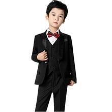 2021 new england styles boy wedding suit set coat+vest+pants formal wedding suit party baptism christmas clothes