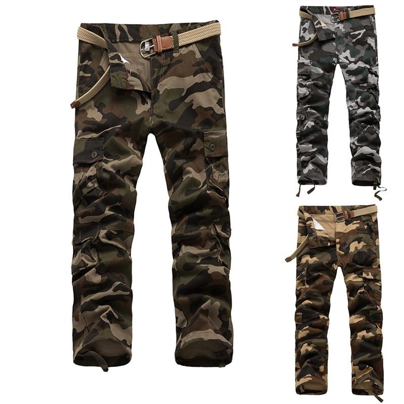 Camouflage Pants Men Casual Camo Cargo Trousers Overalls Hip Hop Joggers Pantalon Homme Multi-pocket Military Tactical Pants