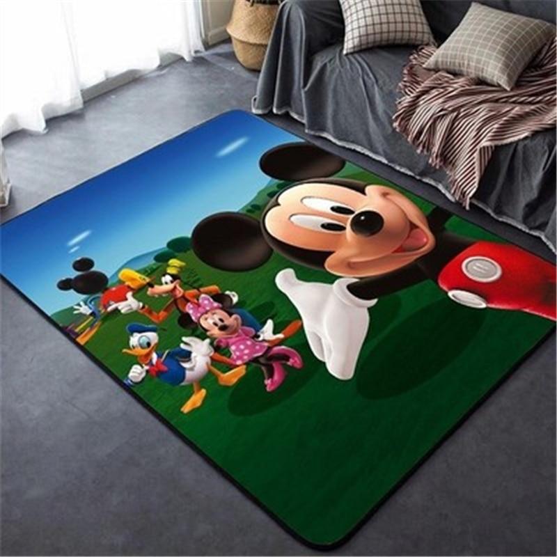 80x160cm Minnie Mickey Mouse Play Mat Door Mat Kids Boys Girls Game Mat Carpet Bedroom Indoor Mat Play Mat Baby Gym