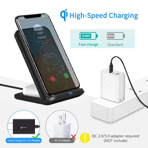 Image 2 - FDGAO 15W 2 in 1 Charging Dock Station for iPhone 11 XS XR X 8 Airpods Pro Qi Wireless Fast Charger Stand For Samsung S20 S10 S9