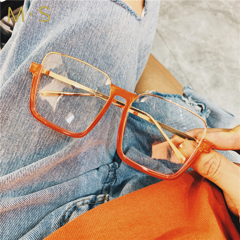 MS 2019 Retro fashion eyeglasses with glass frame for women with myopic glasses super light Female optical glasses New Eyewear image