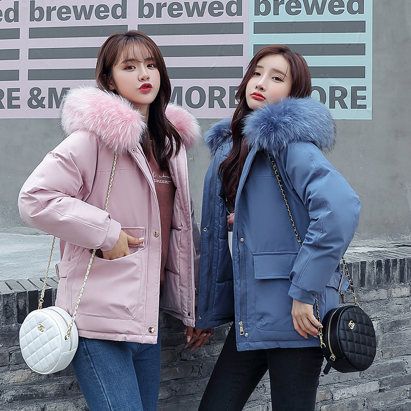 Diwish Sisters Fur Hooded Winter Jacket Women Fashion Thick   Parka   Plus Size XXL Casual Warm Coat Solid Female Winter Outwear