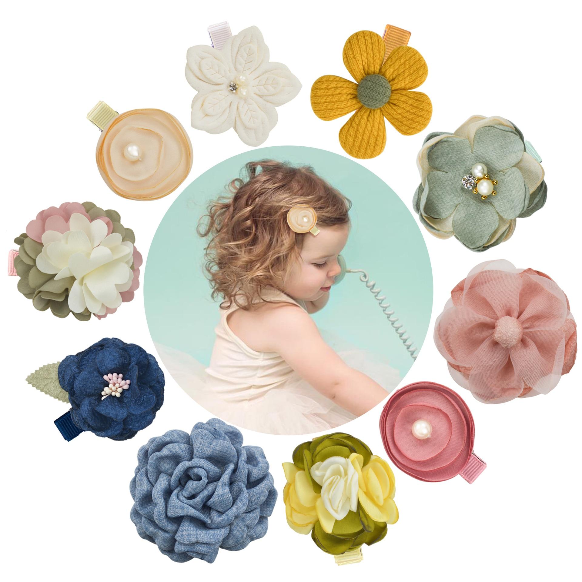Детские заколки для волос, детские шпильки с жемчугом, сетчатые заколки для волос для девочек, аксессуары для волос на весну и лето, корейски...
