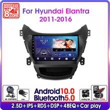 אנדרואיד 10.0 רכב רדיו עבור יונדאי Elantra Avante I35 2011 2016 מולטימדיה וידאו נגן Navigaion GPS 2 דין dvd סטריאו ראש יחידה