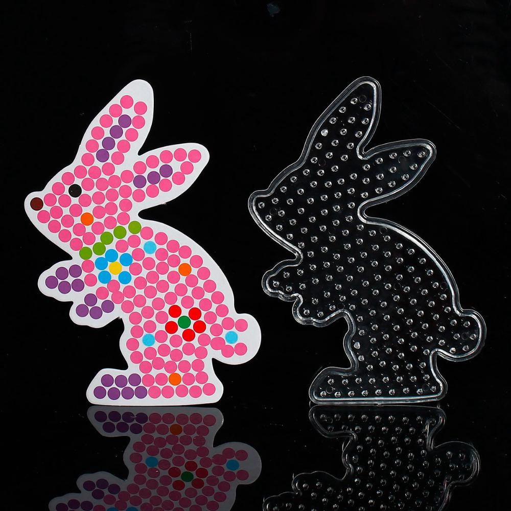 5mm Hama Beads 3D Puzzle Toys For Children Rabbit Pegboards Patterns Templates For Perler Beads Educational Toys