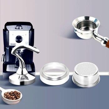 51MM Filter Basket Coffee Tamper Cup Dispensing Ring for Breville Delonghi Steel