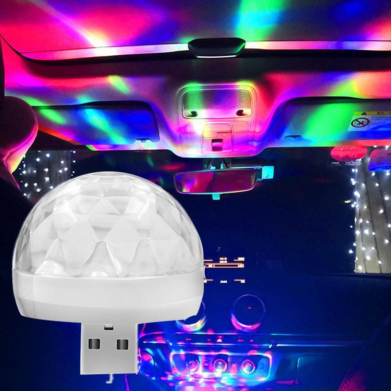 Car Interior Atmosphere Light D6-mini Colorful Music Sound Control Neon Led USB Flashing Lamp Car Decoration Car Styling Light