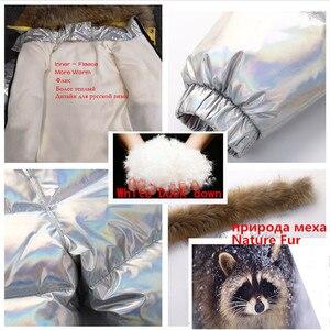 Image 3 - Nova rússia jaqueta de inverno para meninas & meninos casacos crianças outerwear, pato quente para baixo crianças menino roupas de esqui parka brilhante snowsuit