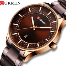 CURREN Relogio Masculino Fashion Man Clock Man Stainless Steel Band Watch Men Quartz Wrist Watch with Casual Date Business Gift special design fashion turntable dial paidu net mesh steel band wrist quartz watch men women relogio masculino male clock gift