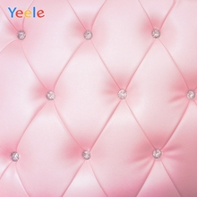 Yeele Wall Decor Bedhead Diamond Pink Ins Style Photography Backdrops Personalized Photographic Backgrounds For Photo Studio