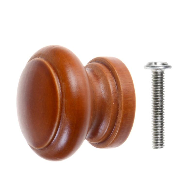 Wooden Knobs 12/24pcs Cabinet Pull Knob Round Furniture Handle Drawer Pull Handles Hardware Wardrobe Door Knob for Home Kitchen|Cabinet Pulls| |  - title=