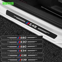M эффективные наклейки на дверные пороги из углеродного волокна для BMW E30 E34 E36 E60 E90 E46 E39