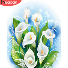 HUACAN Paint By Number Flowers DIY Oil Painting Numbers Pictures Kits Drawing Canvas HandPainted Gift Home Decor