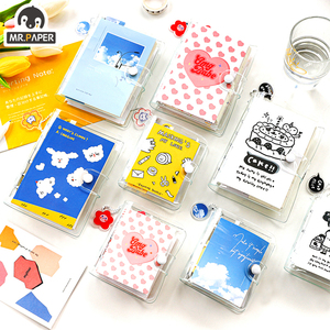 Mr.Paper 8 Designs Small Universe A7 Mini Notebook Loose Leaf Paper Transparent Sulphuric Refrigerator Sliver Scooter Notebook