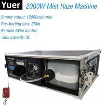 2000W שלב ערפל אובך מכונה ערפל מכונת עם DMX בקרת טיסה מקרה חבילה 3L עשן מכונת שלב אפקט תאורה dj מועדון